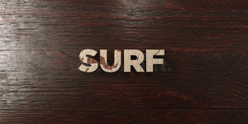 A ressaca - título de madeira sujo no bordo - 3D rendeu a imagem conservada em estoque livre dos direitos ilustração stock