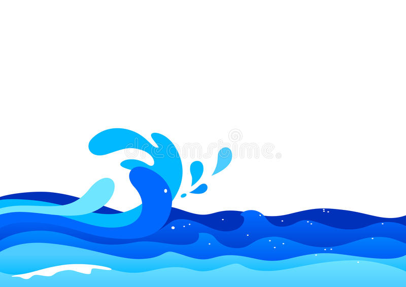 Ressacs illustration stock