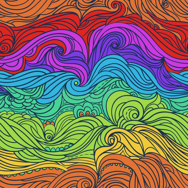 Ressacs Colorful-02 illustration libre de droits