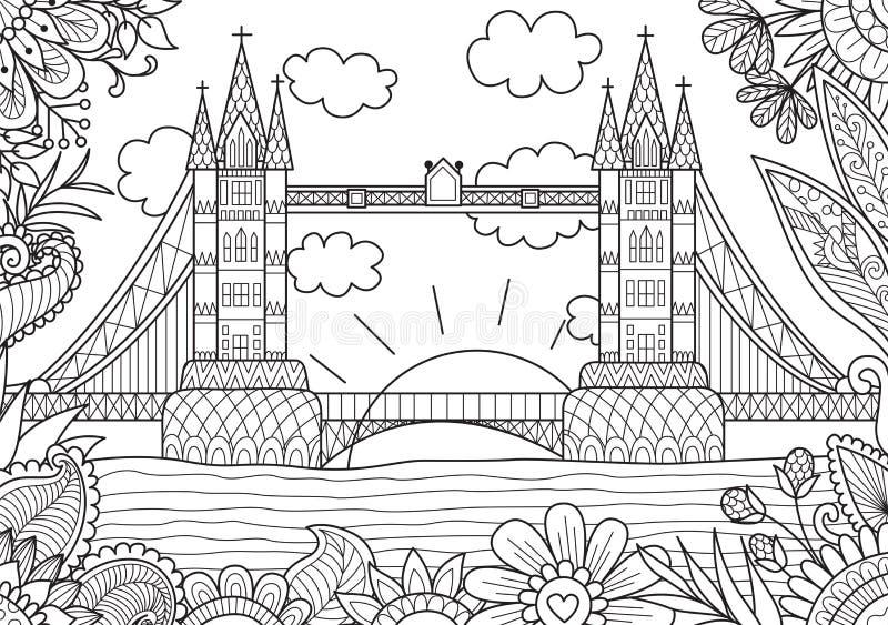 Ressort à Londres illustration libre de droits
