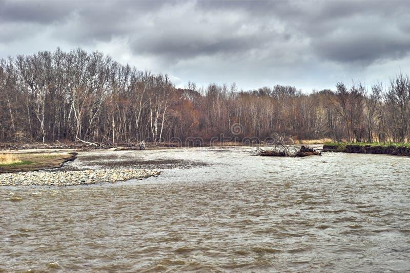 Ressort de rivière de Kuban le premier photo libre de droits