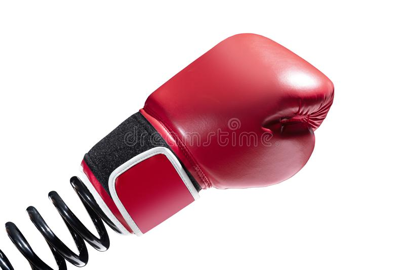 Ressort noir avec des gants de boxe photo libre de droits