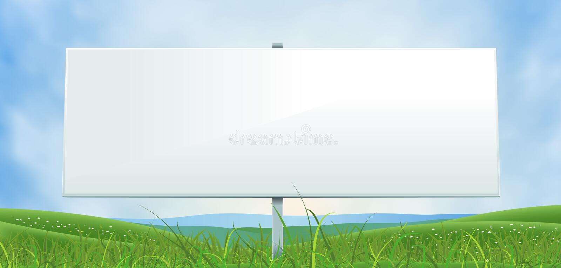 Ressort ou panneau d'affichage blanc de large d'été illustration de vecteur