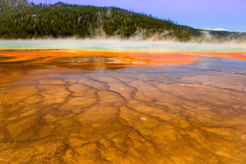 Ressort prismatique de Yellowstone photos libres de droits