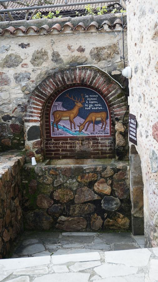 Ressort saint dans l'église en Chypre photographie stock
