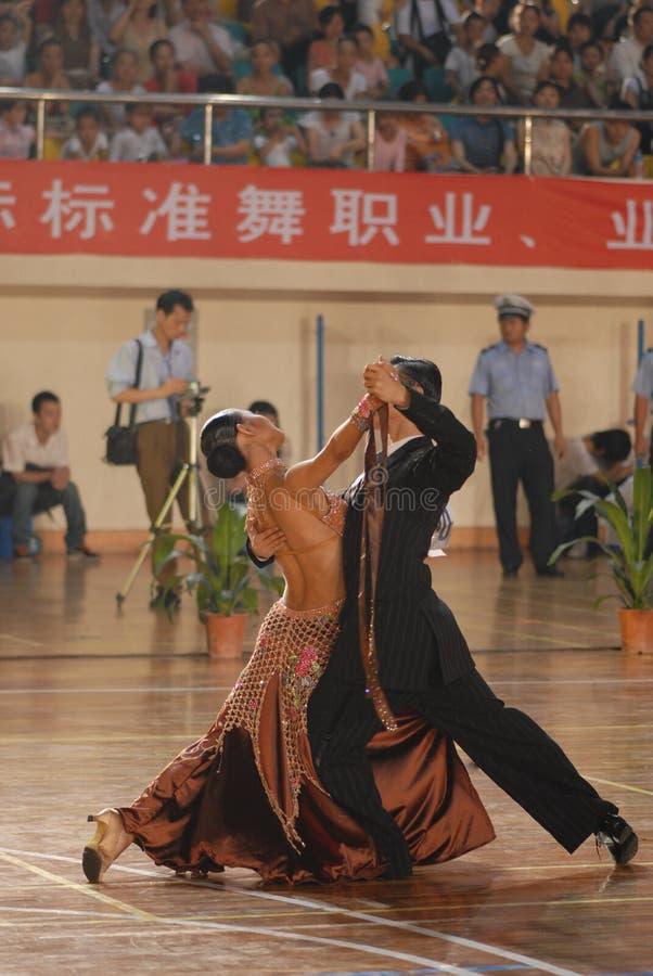 Ressortissant élégant de danse de norme internationale de la mouvement-Chine Nan-Tchang ouvert images libres de droits