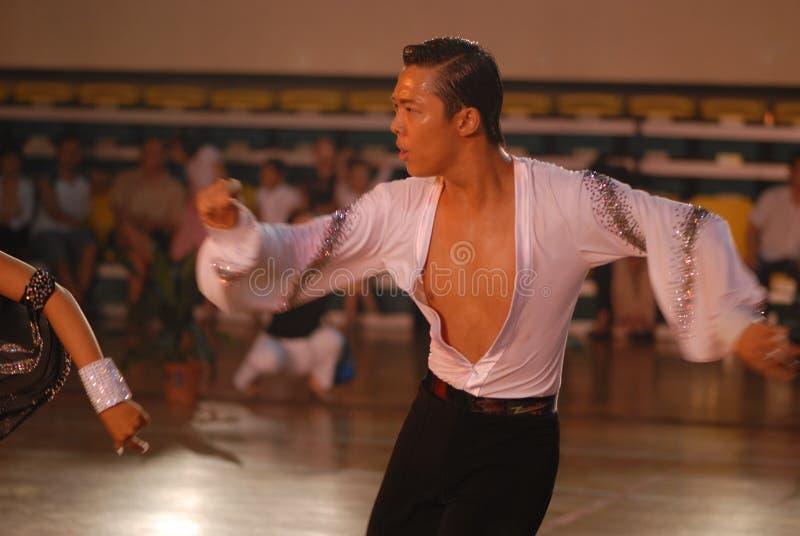 Ressortissant beau de danse de norme internationale de la Chine Nan-Tchang ouvert photos stock