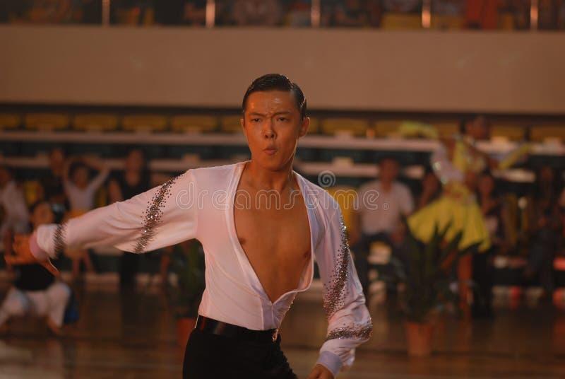 Ressortissant beau de danse de norme internationale de la Chine Nan-Tchang ouvert images libres de droits