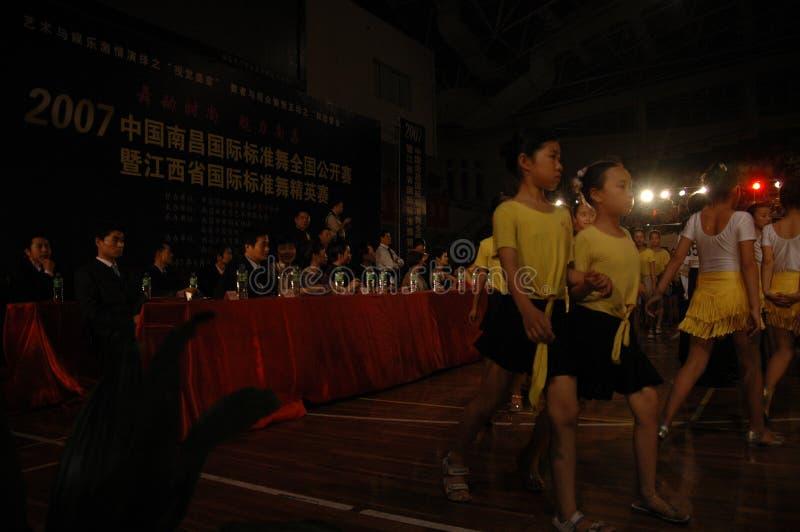 Ressortissant de danse de norme internationale de la Chine Nan-Tchang de cadets d'enfants ouvert photographie stock