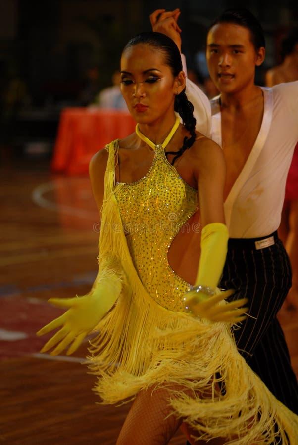 Ressortissant de danse de norme internationale de la Dynamique-Chine Nan-Tchang ouvert photos libres de droits