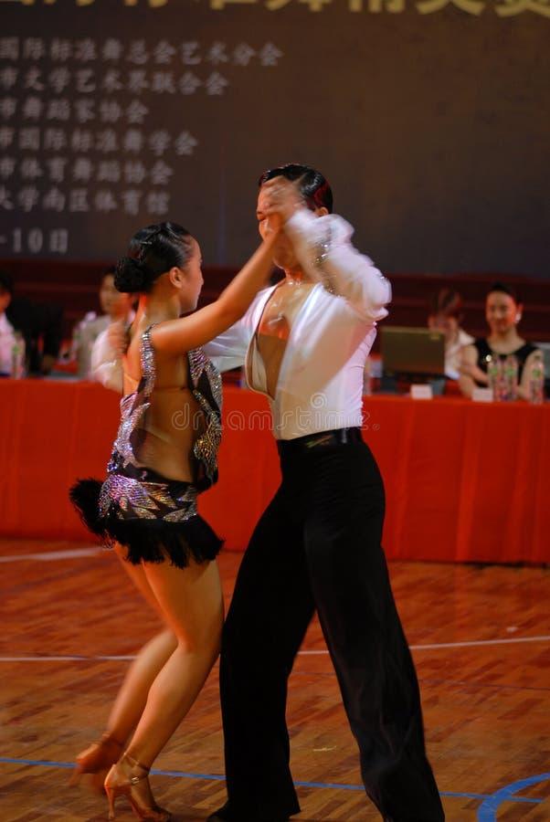 Ressortissant de danse de norme internationale de la Dynamique-Chine Nan-Tchang ouvert image libre de droits