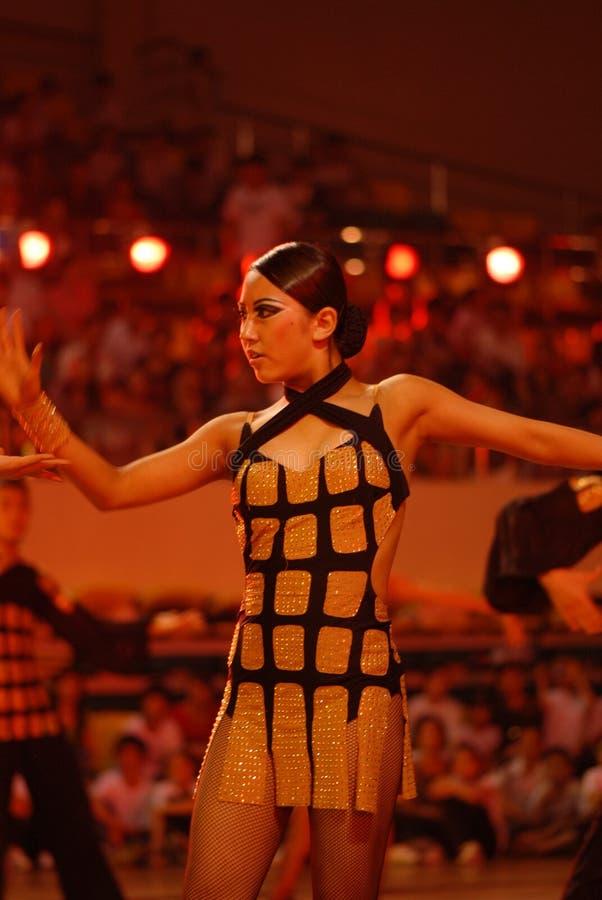 Ressortissant de danse de norme internationale de la Mince-Chine Nan-Tchang ouvert photographie stock libre de droits