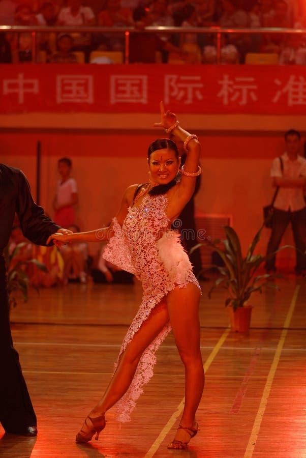 Ressortissant de danse de norme internationale de la Mince-Chine Nan-Tchang ouvert images stock