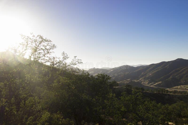 Ressortissant Forest Sunrise d'aumôniers de visibilité directe images stock