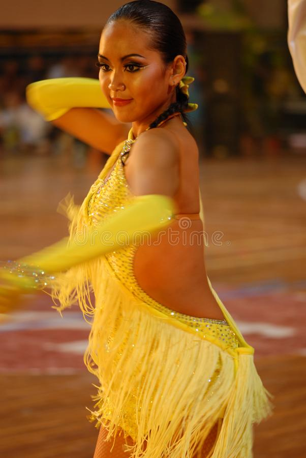 Ressortissant gracieux de danse de norme internationale de la courbe-Chine Nan-Tchang ouvert image stock