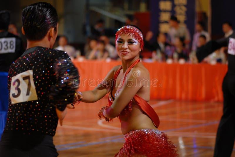 Ressortissant libre et relaxed- de danse de norme internationale de la Chine Nan-Tchang ouvert photo stock