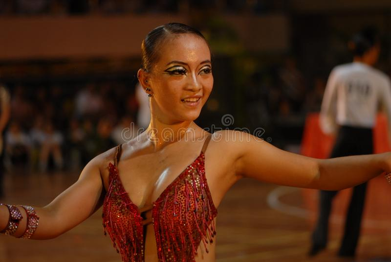 Ressortissant libre et relaxed- de danse de norme internationale de la Chine Nan-Tchang ouvert photographie stock libre de droits