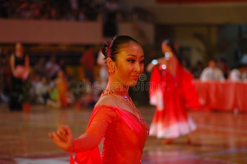 Ressortissant sérieux de danse de norme internationale de la Chine Nan-Tchang ouvert photos libres de droits