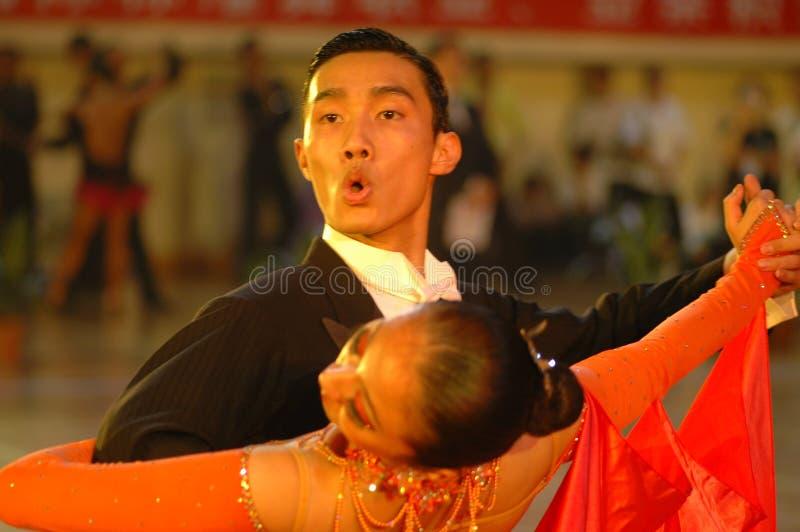 Ressortissant sérieux de danse de norme internationale de la Chine Nan-Tchang ouvert images libres de droits