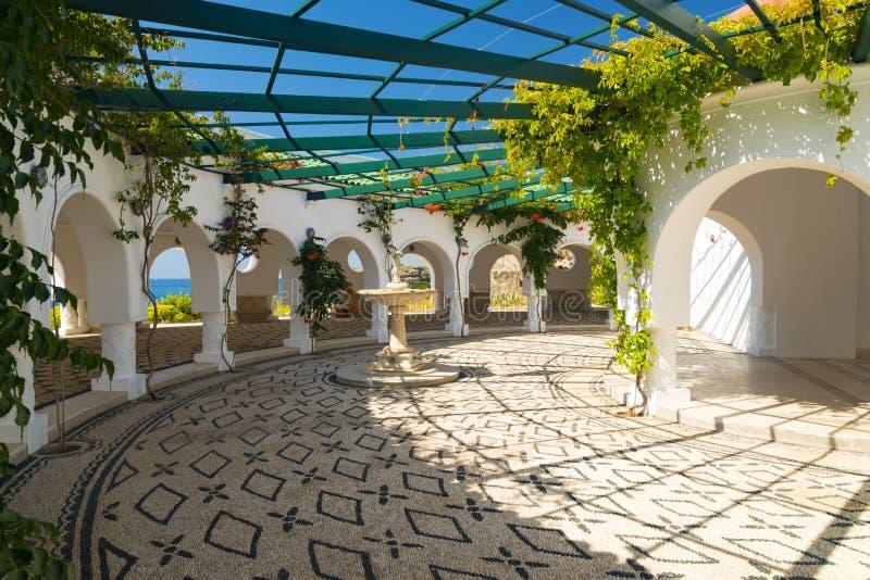 Ressorts de Kallithea sur l'île de Rhodes images libres de droits