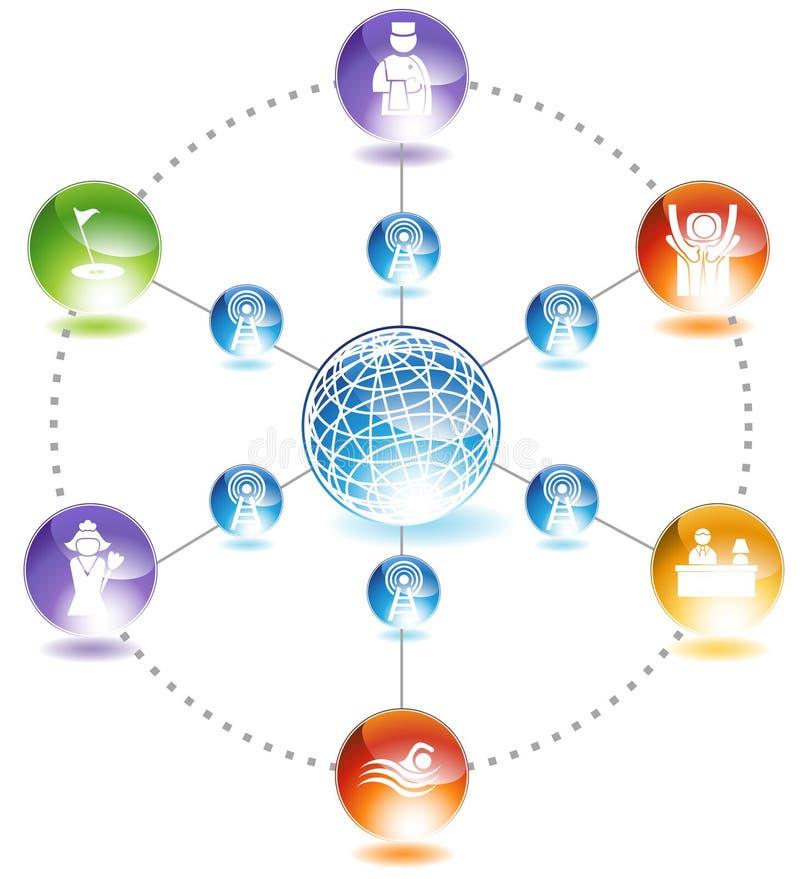 Ressource globale illustration de vecteur