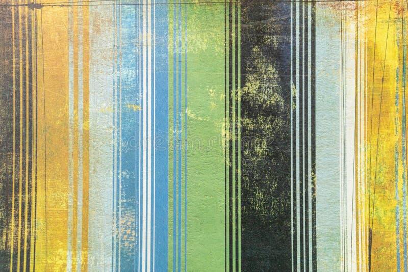 Ressource graphique de rayures multicolores dans le style grunge moderne photos libres de droits
