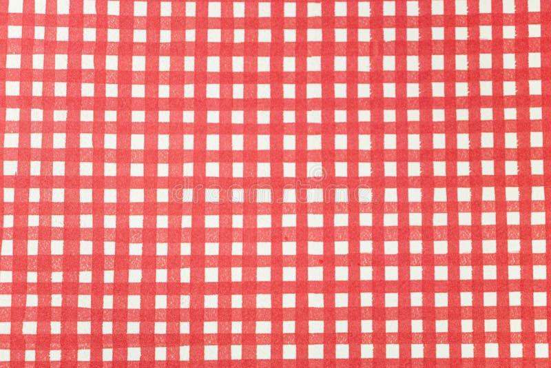 Ressource graphique rouge et blanche rayée pour des pique-niques photo stock