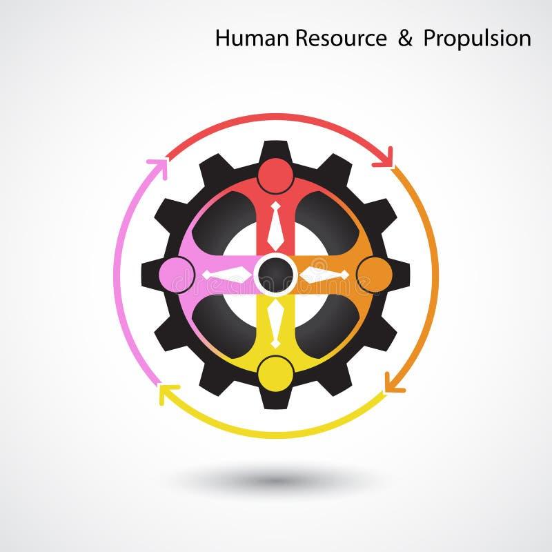 Ressource humaine et affaires et concept industriel de propulsion illustration de vecteur