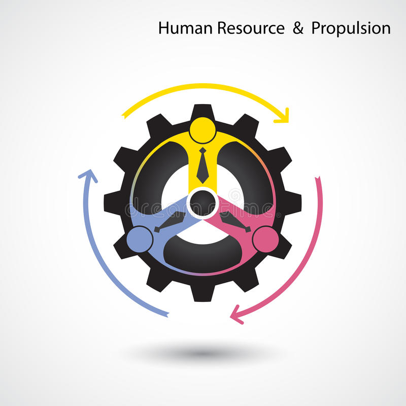 Ressource humaine et affaires et concept industriel de propulsion illustration libre de droits