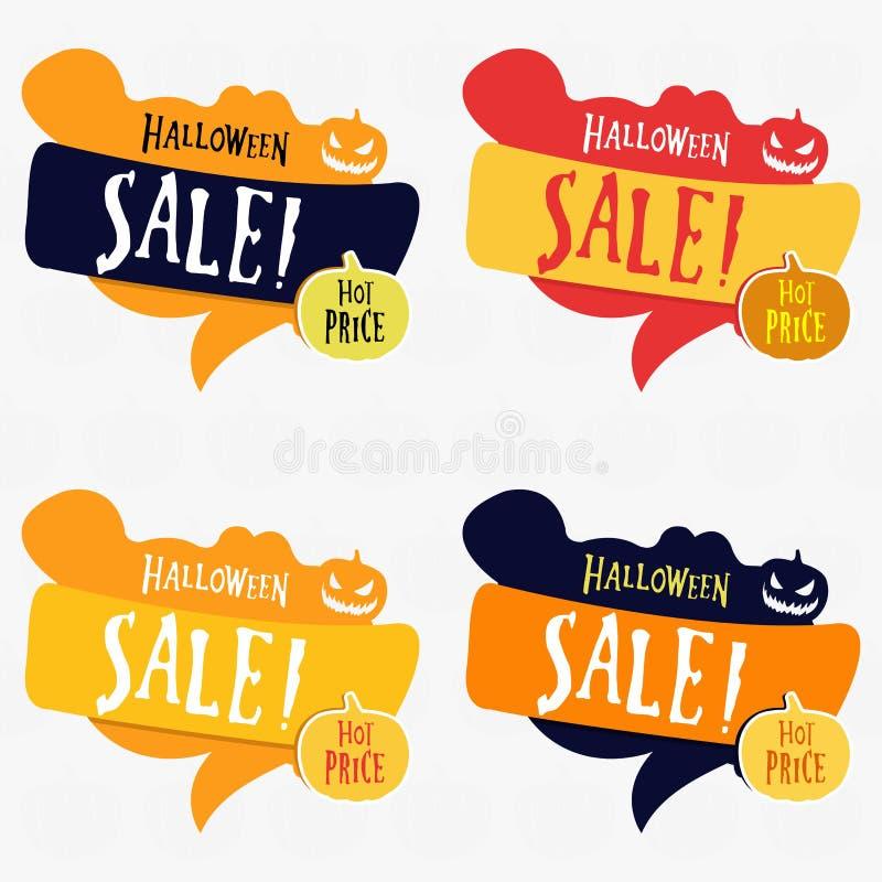 Ressourcen-Preisfahne Halloweens grafische vektor abbildung