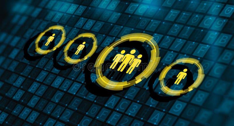 Ressources humaines d'heure d'entrevue des employ?s de carri?re de recrutement illustration libre de droits