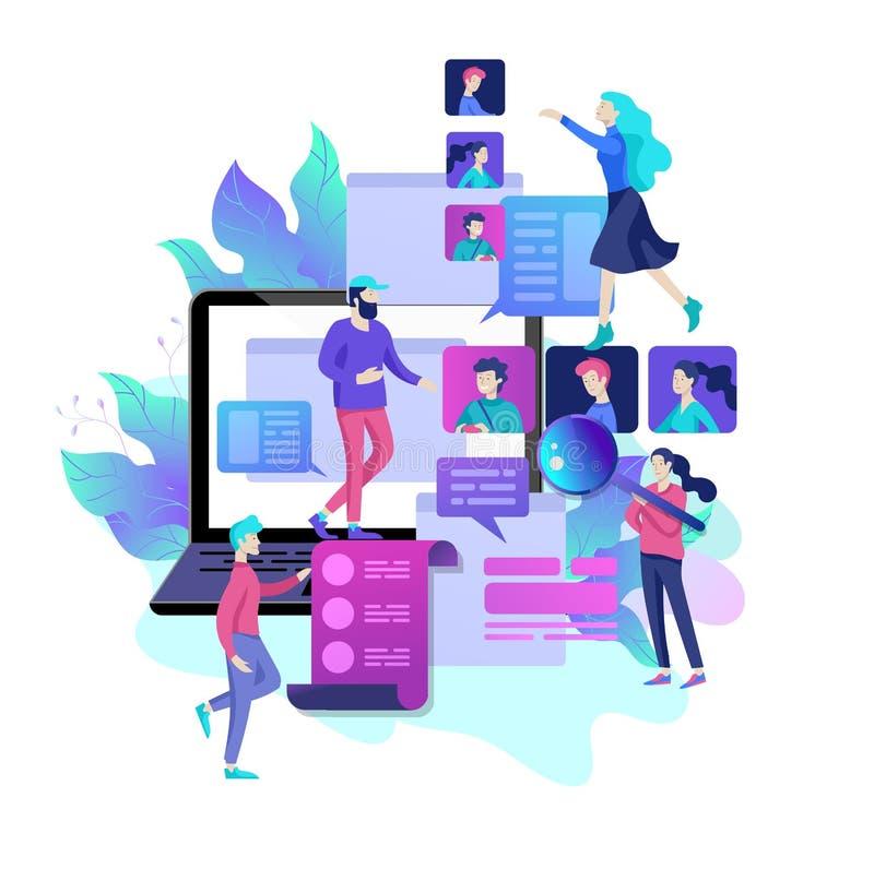 Ressources humaines de concept, bannière, présentation, milieu social, documents Recrutement pour la page Web illustration libre de droits