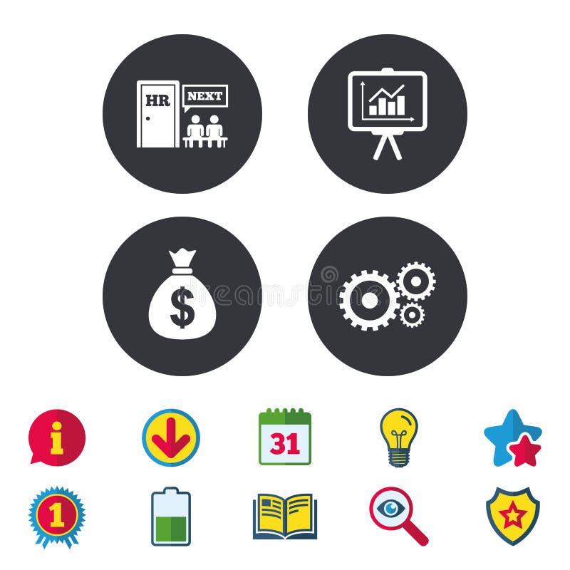 Ressources humaines et affaires Conseil de présentation illustration stock