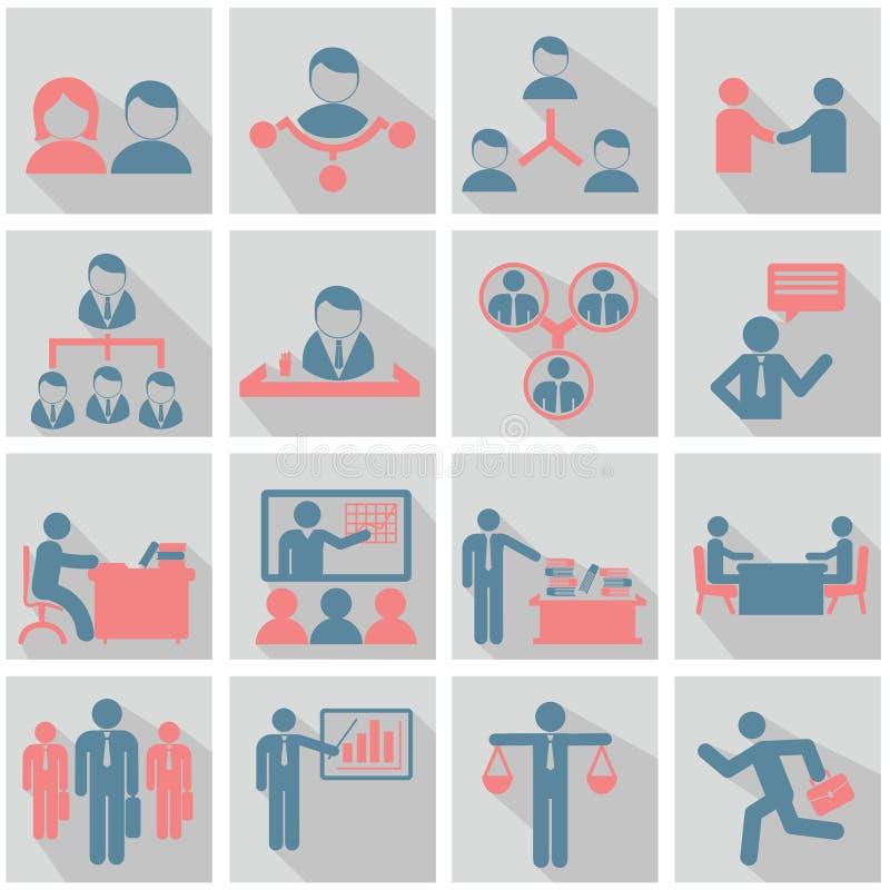 Ressources humaines et icônes de gestion réglées. photos libres de droits