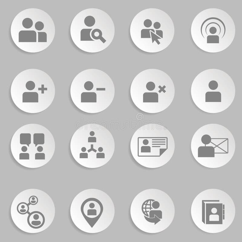 Ressources humaines et icônes de gestion réglées. image stock