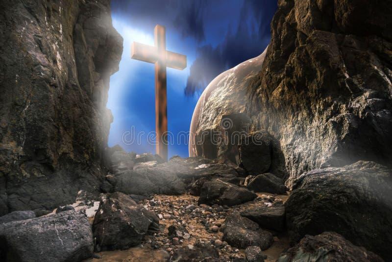 Ressurreição do Jesus Cristo ilustração royalty free