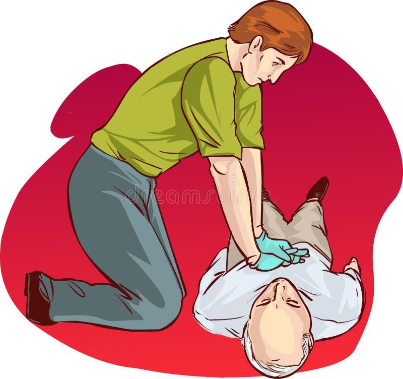 Ressuscitação cardiopulmonar ilustração royalty free