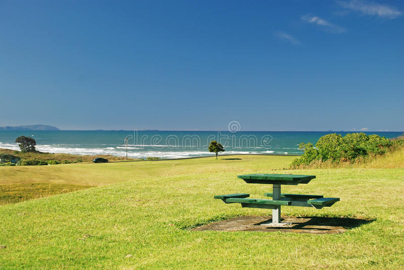 Rest area. On the shore of New Zealand royalty free stock image