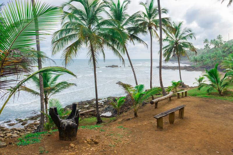 Rest area at the Havaizinho beach Itacare. Rest area at the Havaizinho beach in Itacare Bahia stock photography