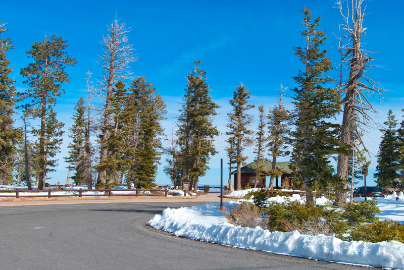 Rest Area. Rainbow Point rest area at the Bryce Canyon National Park, Utah, USA royalty free stock images