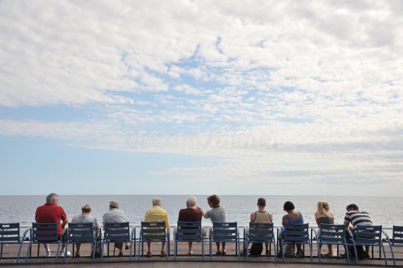 Rest auf der Ufergegend von Nizza lizenzfreies stockfoto