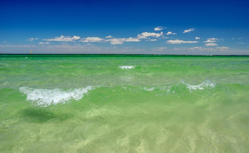 Rest on the Australian Pacific coast. The beach at Chelsea, Melbourne. The State Of Victoria stock photo