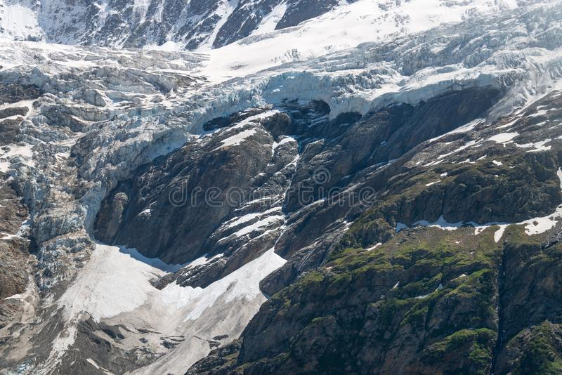 Rest av den Grindelwald glaciären i Schweiz royaltyfri bild