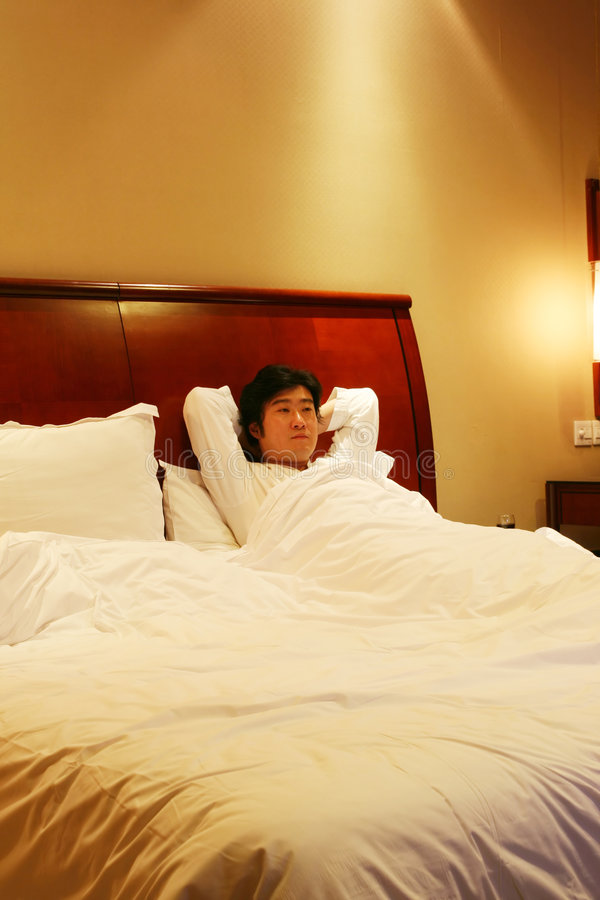 Download Rest on the bed stock photo. Image of happiness, japanese - 8112704