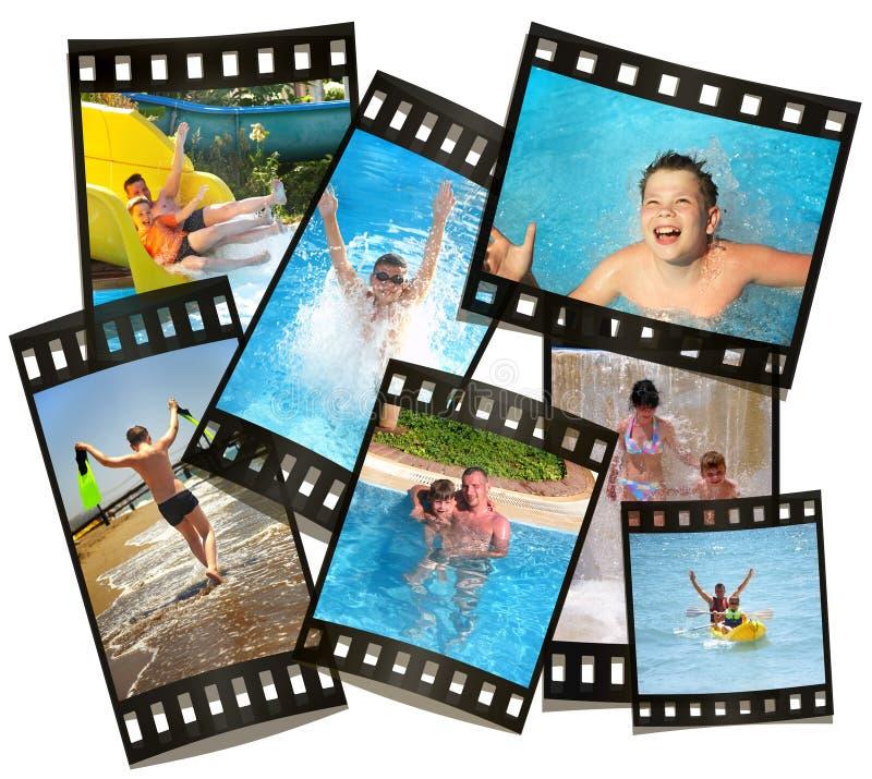 Rest durch alle Familie. Film mit Fotos. stockbilder