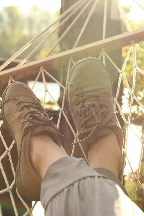 Rest in a hammock on the nature of the scattered stock images
