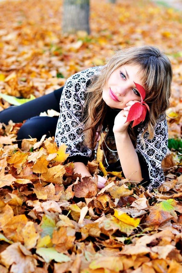 Rest im Herbstpark stockbilder