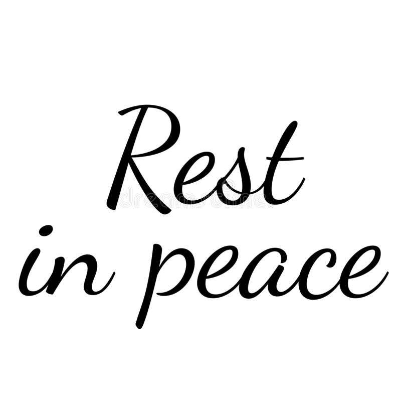 Free REST IN PEACE Stamp On White Background Royalty Free Stock Images - 148914859