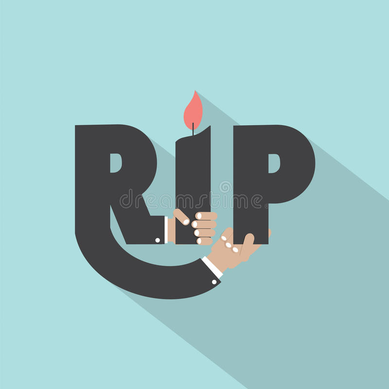 Free Rest In Peace Typography Design Royalty Free Stock Image - 50921656