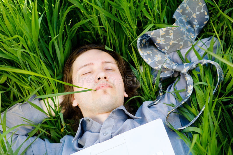 Download Rest with laptop stock image. Image of education, good - 5136271